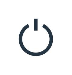 Shutdown icon isolated on white background vector