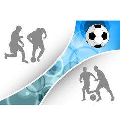 soccer document vector image
