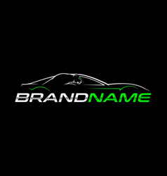 sport car logo vector image