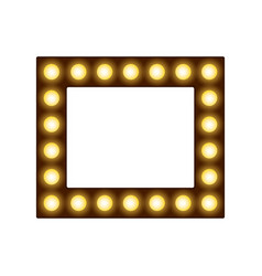 square frame with lamps place for text or photo vector image