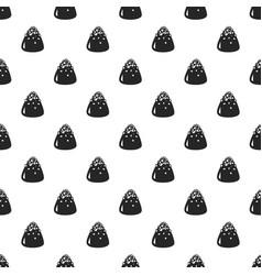 Sweet truffle pattern seamless vector
