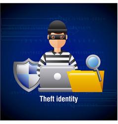Theft identity hacker laptop folder search vector