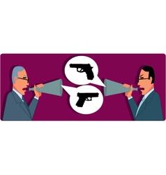 Verbal Confrontation vector