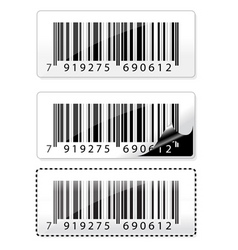 barcode sticker vector image vector image