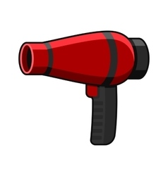 Hairdryer Icon on White Background vector image