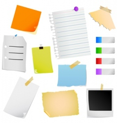 note paper vector image