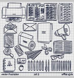 sketch work style set 2 vector image