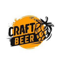 craft beer poster vector image vector image