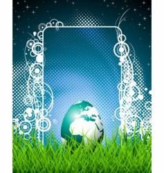 Easter illustration with shiny globe-egg vector image