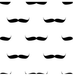 seamless background mustache on white background vector image vector image