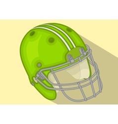 American Football Helmet isometric flat vector image