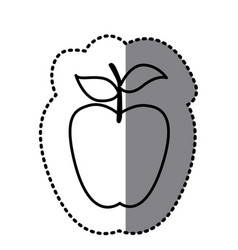 figure long apple fruit icon vector image vector image