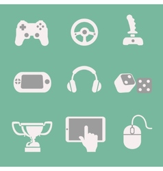 game icons set white background vector image