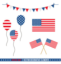 4th of july decorative elements vector