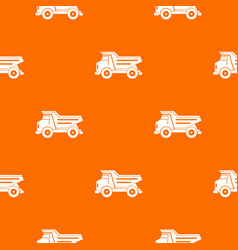 dump truck pattern seamless vector image vector image