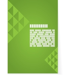 Green background for brochure or cover vector image vector image