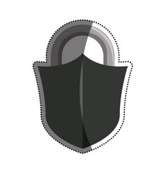 padlock security object vector image