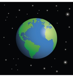 Planet earth surrounded by stars vector image