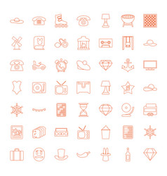 49 vintage icons vector image