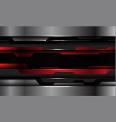 Abstract red black metallic silver cyber vector