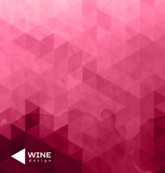 Abstract triangle wine background vector image
