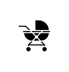 baby carriage icon solid vehicle and vector image