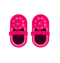 Baby pink kid little shoes or newborn vector