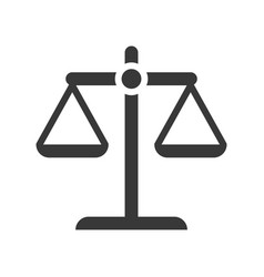 Balance scale law and justice icon glyph design vector