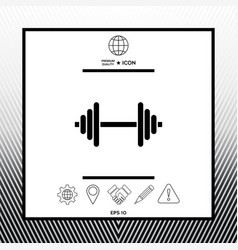 Barbell symbol icon vector
