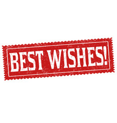 best wishes sign or stamp vector image
