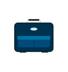 blue travel bag with luggage vector image