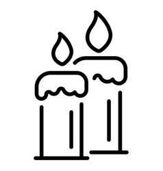 burning candles icon outline style vector image