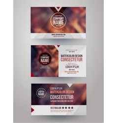 business cards with blurred abstract background vector image