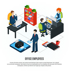 Business employees flowchart background vector