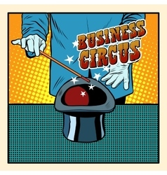 Business magic hat circus vector