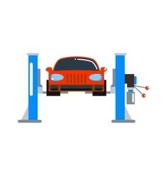 Car repair service diagnostics cartoon flat vector