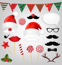 Christmas hipster set vector