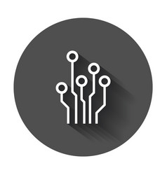 Circuit board icon technology scheme symbol flat vector