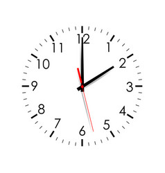 Clock face showing two hours isolated vector