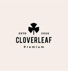 clover leaf hipster vintage logo icon vector image