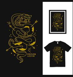Cobra poison t shirt design vector