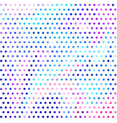 colorful disco dots background design vector image