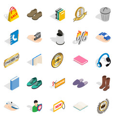 commercial acumen icons set isometric style vector image