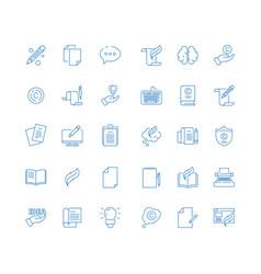 copywriting icon write articles pen symbol vector image