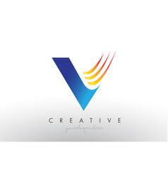 Creative corporate v letter logo icon design with vector
