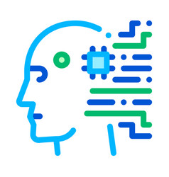 cyborg artificial intelligence sign icon vector image