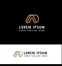 da or ad line logo design inspiration with vector image