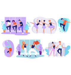 dancing studio for kids and adults modern styles vector image