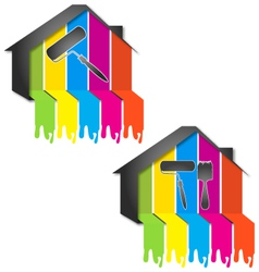 Design for painting houses vector