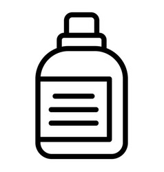 Dog food bottle icon outline style vector